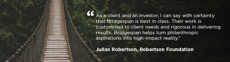 quote by Julian Robertson over image of bridge