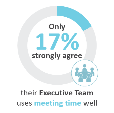 Only 17% strongly agree their Executive Team uses meeting time well