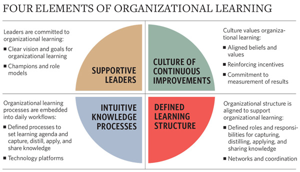 Chart: Four elements of organizational learning