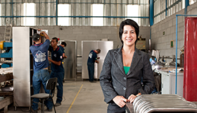 Rosana, owner of Universo Inox, a steel manufacturing company in Belo Horizonte, Brazil
