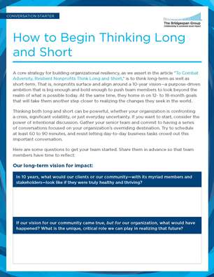 how to think long and short tool
